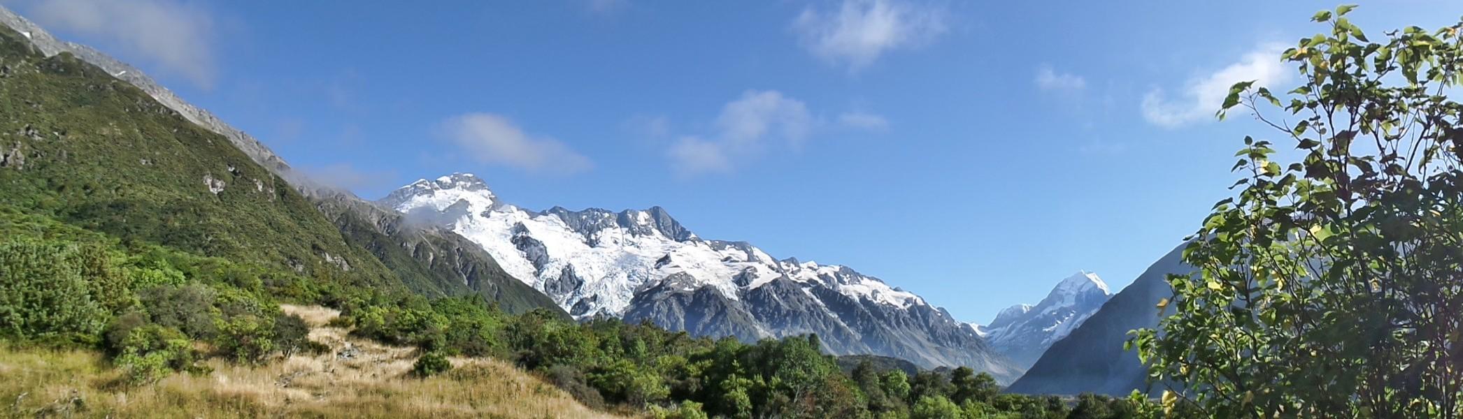 Mueller Glacier mit Mt. Cook